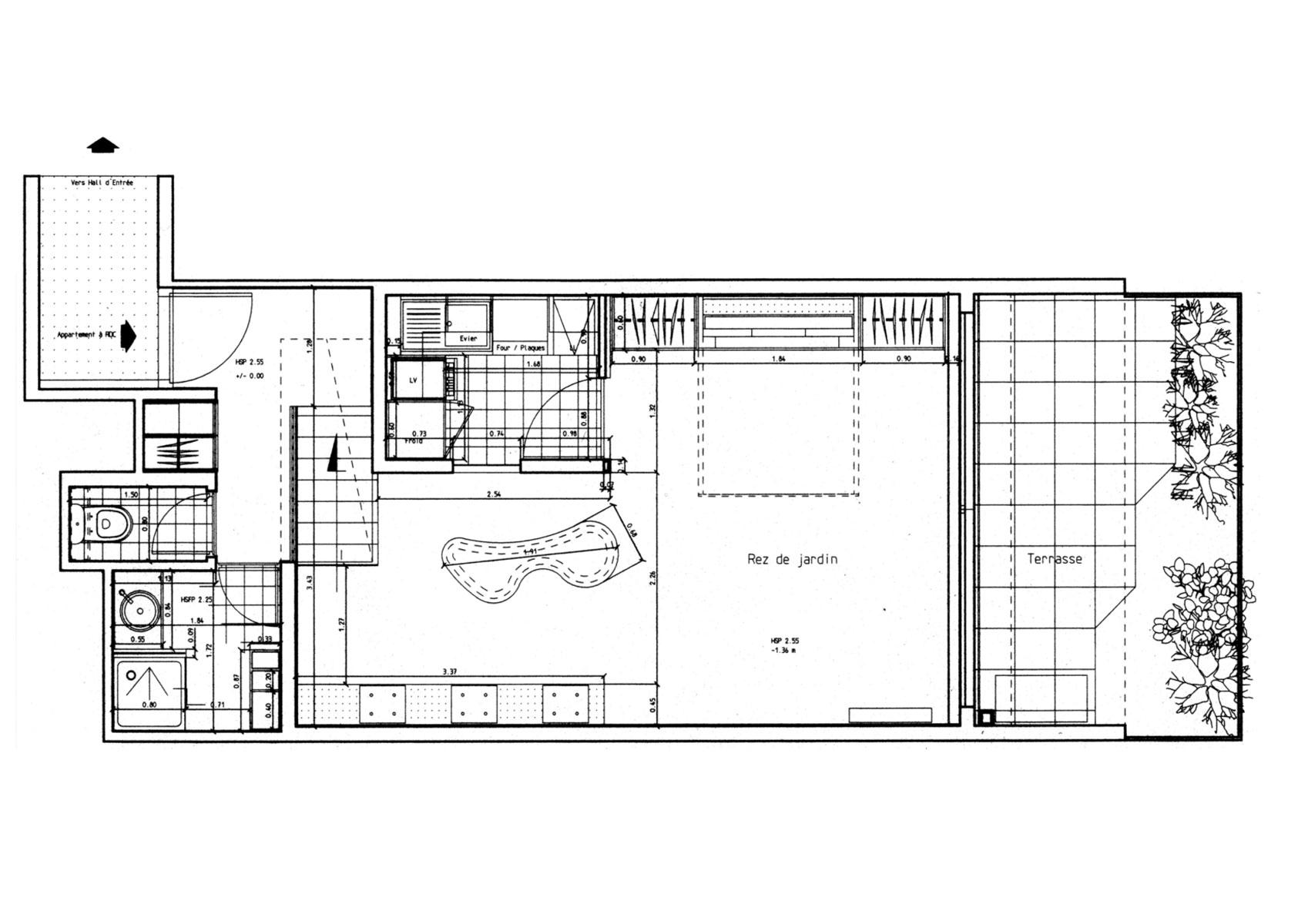 plan appartement 45m2